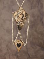 Queen of Hearts Necklace by wee-free-fayries