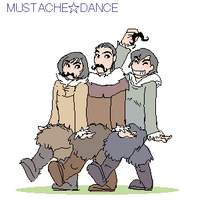 mustache dance by shibu