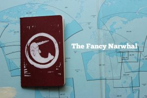 Fancy Narwhal Notebook by aunjuli