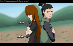 P.Com. Gemma and Shikamaru screenshot by narusasu2009