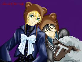 Young Love :Yuuram: :colored: by Kuramagrl