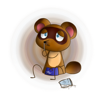 Tom Nook sniffin' some cocaine by Sweirde