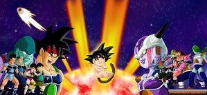 DBCU Bardock vs Frieza by cdzdbzGOKU