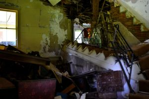 Inside of the Pocono House Torn UP by PAlisauskas