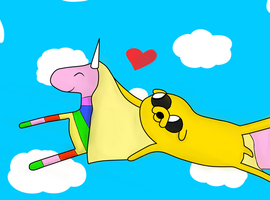 jake and rainicorn. :3 by yoshibowserjr
