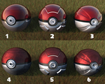 Pokeballs with different textures by FinnAkira