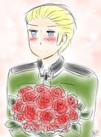 [APH] Blushing Germany by THE-L0LLIP0P