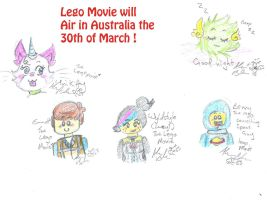 the Lego movie and flying beeping fuzzball scr by Kittychan2005