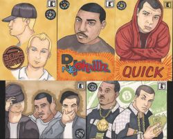 I'm With The DJ Sketch Cards by angelacapel