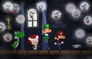 Super Mario: Ghost House by Adam-Leonhardt