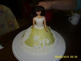 Barbie cake 1 by Happylovelycherry