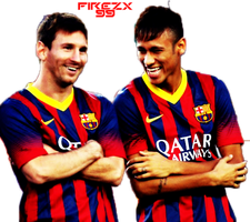 Render De Messi Y Neymar by Firezx99