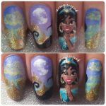 Princess Jasmine nail art by amanda04