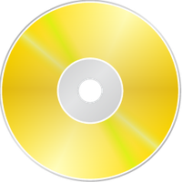 Gold CD DVD Dock Icon by tempest790