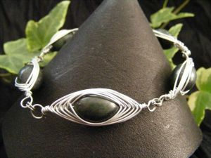 serpentine herringbone bracelet by BacktoEarthCreations