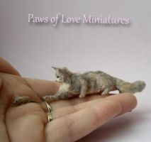 Samson ooak miniature cat mouse by mary anderson by PawsofLoveMinis