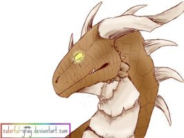 _Brown_Dragon by Colorful-Gray