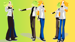 MMD Newcomers - Un-Named Twins by Kikami101