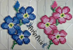 Forget-Me-Not Flowers by PerlerPixie