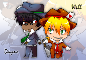 Will + Dayne - chibi comission by irask