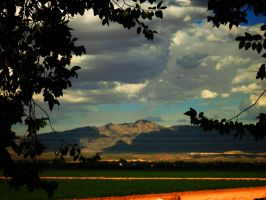 Shadows,Cotton and the Rockies by SharPhotography