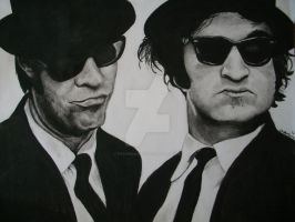 Charcoal Blues Brothers by ryanmcairns
