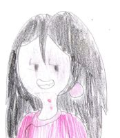 Marceline with red shirt and red earrings by MarcosLucky96
