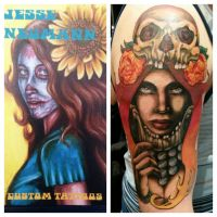 Tattoos by Jesse Neumann by Xorn01