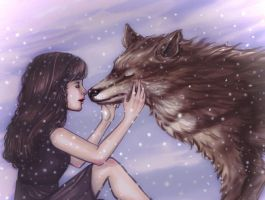 Girl And Wolf by VeraArt