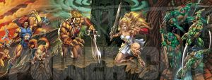 Thundercats  He Man  She Ra  And Tmnt by Tonywash