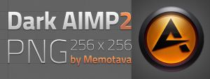 Dark AIMP2 Icon by memotava