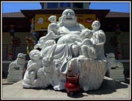 Buddha and Family by AudraMBlackburnsArt