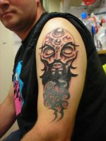 Evil Wizard cover up tattoo3 by HowComeHesDead