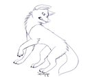 Angry Wolf/Dog Line Art FTU by SquidPup