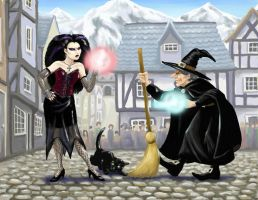 Battle of the witches by nienor
