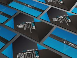 Detector Business card design by Lemongraphic