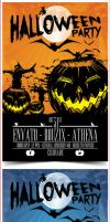Halloween Party Flyer Template by bouzix