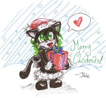 MERRY CHRISTMAS from Jade by jadethemobian
