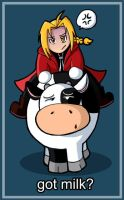 Got Milk? Full Metal Alchemist by wytwolf