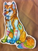Plushie keychain commission by nightspiritwing