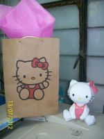 hello kitty papercraft by rafex17