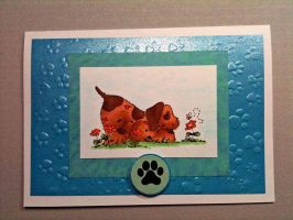 Puppy Paw card by MudgetMakes