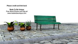 Bench Seat pre-made Background by madetobeunique