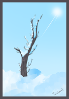 Experiment: tree in winter by Twistare