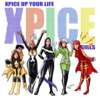 TLIID 128. X-Women as Spice Girls by AxelMedellin