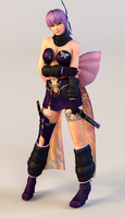 Ayane 3DS Render 5 by x2gon