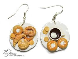 Earrings 'Baking' by OrionaJewelry
