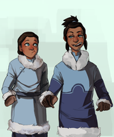 Noatak and Tarrlok by TeaAnemone