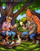 Mewrei Commission Duck Park by lady-cybercat