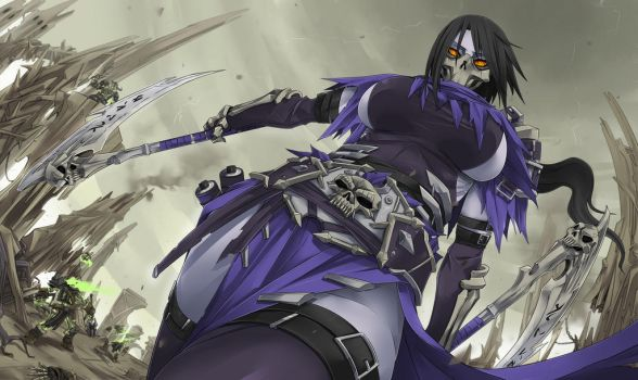 Death Akali by Exaxuxer